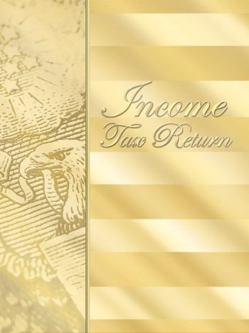 Gold Tax Return Folders present tax returns in a professional way #GSF10 - Discount Tax Forms