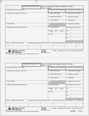 W2 Copy B Forms for Employee Federal Tax Filing LW2B - DiscountTaxForms.com