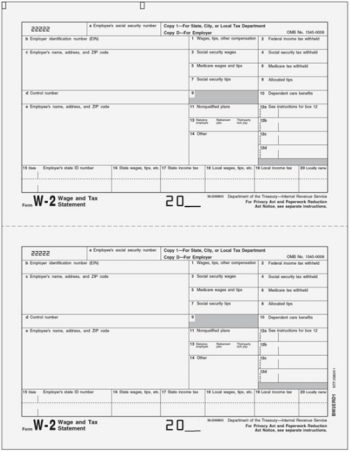 W2 Copy D/1 for Employers City, State or Local Filing LW2D1 - DiscountTaxForms.com