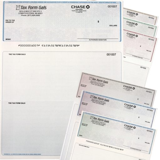 Business Checks in Top Position, with Logos and High-Security Features at Low Prices - DiscountTaxForms.com
