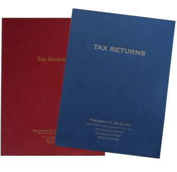 Customized Tax Return Folders with Foil Stamping - Discount Tax Forms