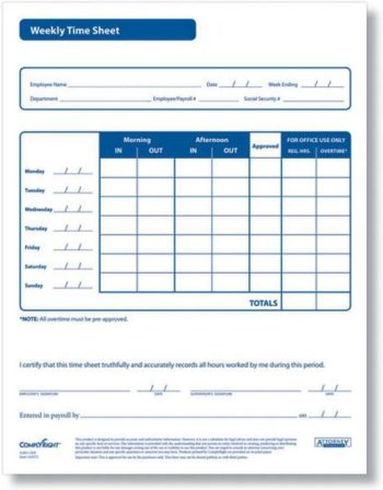Weekly timesheet forms for employees, compliant with labor laws - Discount Tax Forms