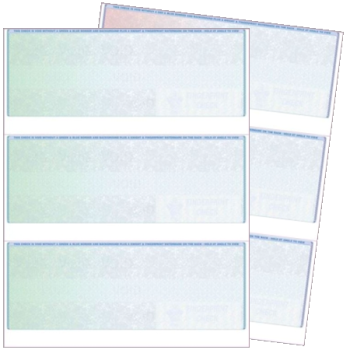 3 Per Page Blank Check Stock for Accounting Software Used by Business - DiscountTaxForms.com