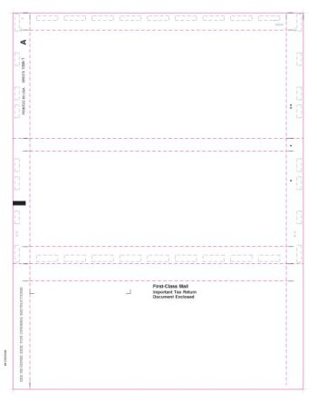 Blank Pressure Seal Paper for 1098-T Forms
