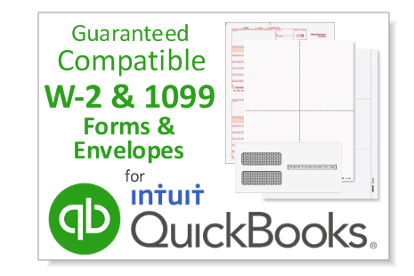 Quickbooks 1099 & W2 Forms Callout - Discount Tax Forms