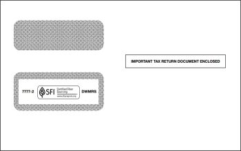 1099 Envelope for 2up 1099MISC, DIV, R - Discount Tax Forms