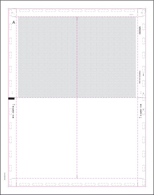 Pressure Seal W2 4up Blank Letter Size V-Fold - Discount Tax Forms