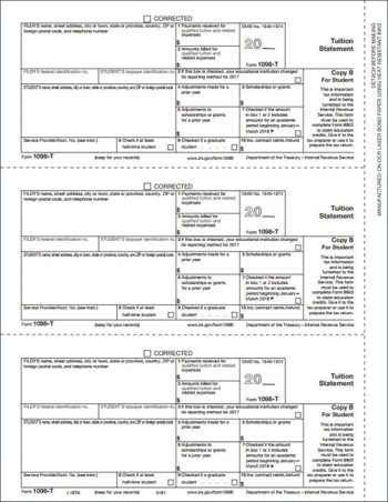1098T Forms, Copy B for recipient - Discount Tax Forms