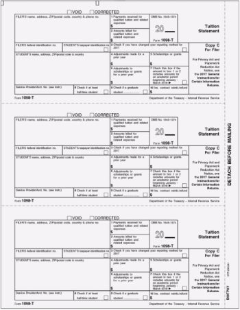 1098T Form Copy C for Filer, Higher Education Expenses - DiscountTaxForms.com