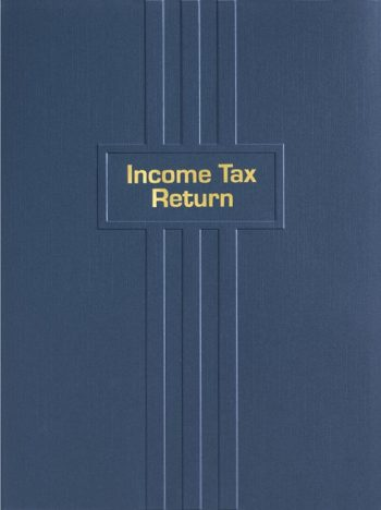 Tax Return Folder with gold foil stamping and embossed lines EFL10NV - Discount Tax Forms