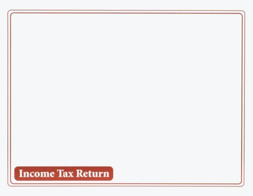 Income Tax Return Envelope 10x13 Burgundy ENV310 - Discount Tax Forms