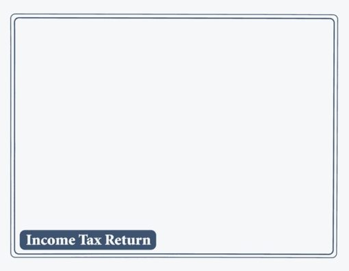 Income Tax Return Envelope 10x13 Blue ENV510 - Discount Tax Forms