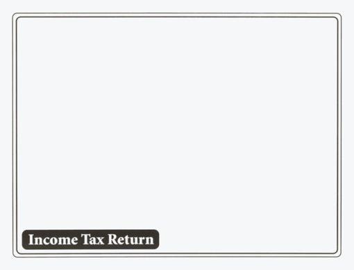 Income Tax Return Envelope 10x13 Black ENV610 - Discount Tax Forms