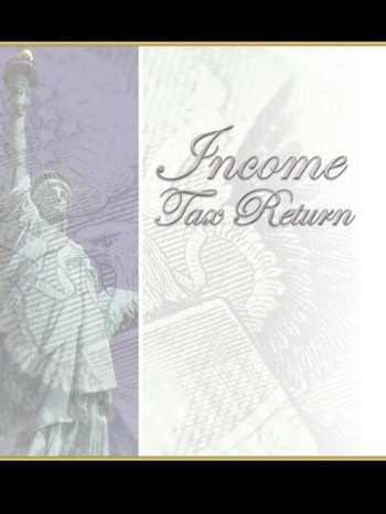 Lady Liberty Tax Folders with Statue of Liberty for a designer look to tax return delivery by CPAs and accountants #LLF10 - Discount Tax Forms