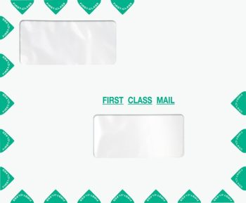 First Class Envelope with 2 Windows, Landscape Format. Compatible with ProSeries PED30-ENV400 - Discount Tax Forms