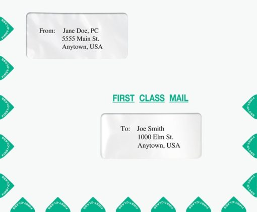 First Class Mail Envelope Double Windows PEG33 PEF32 - Discount Tax Forms