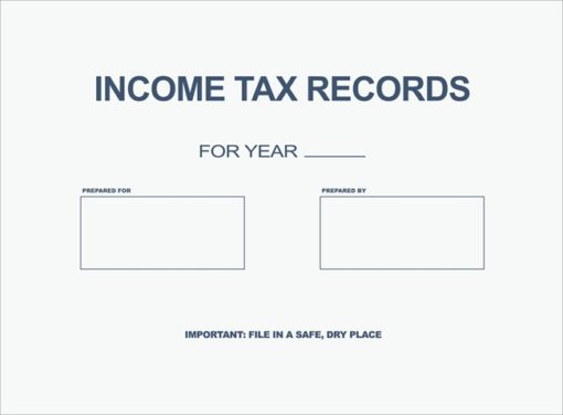 Income Tax Records Envelope for delivering tax returns to clients in a very affordable way PEI09 - Discount Tax Forms