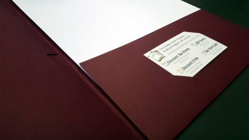Pocket tax folders with business card diecut and 2 windows for slipsheets - DiscountTaxForms.com