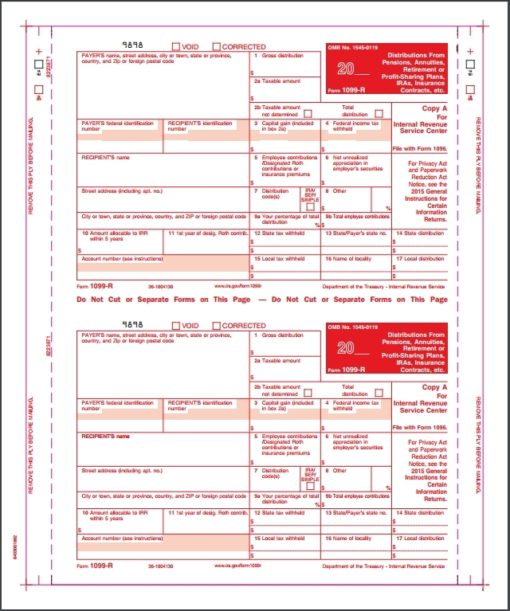 1099R Forms Carbonless - DiscountTaxForms.com