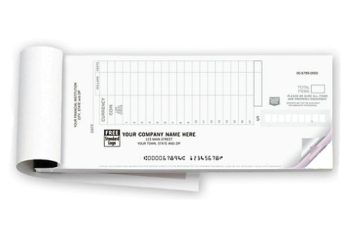 Deposit Ticket Booklet 2-pt, personalized for your company, with a logo included - DiscountTaxForms.com