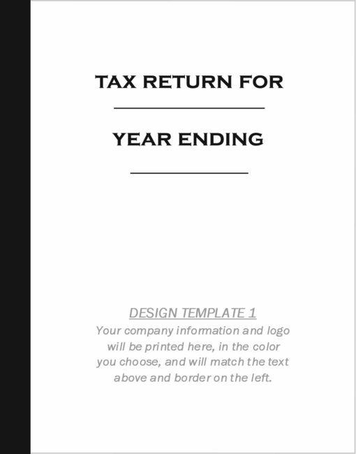Custom tax folder design template 1 - DiscountTaxForms.com