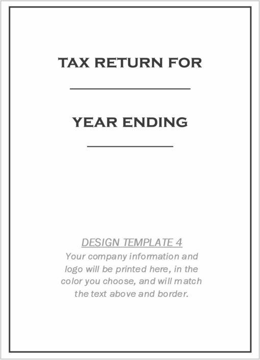Custom Tax Folder Design Template 4 - DiscountTaxForms.com