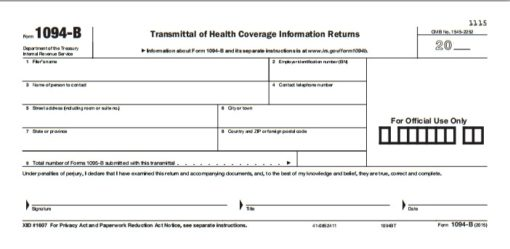 1094-B Transmittal forms for 1095 forms - Discount Tax Forms