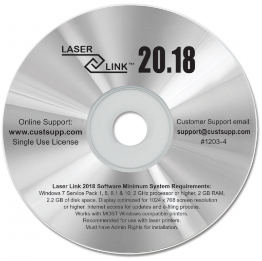 Software for printing 1099 and W2 Forms for 2018 from Laser Link - DiscountTaxForms.como