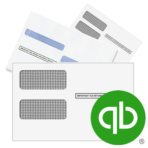 Envelopes for QuickBooks Checks and Forms, including 1099 and W2 forms - DiscountTaxForms.com
