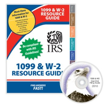 1099 and W2 Resource Guide Booklet and CD for CPAs an Accountants - DiscountTaxForms.com